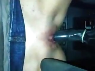 Selfie gear shift in pussy